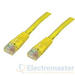 Cat 5 1m Patch Lead Yellow
