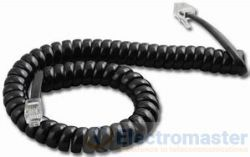 Black Handset Cord 3.6m (12ft)