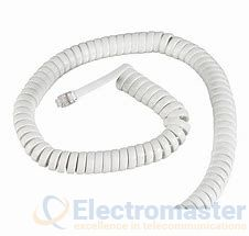 White Handset Cord 2m  (8ft)